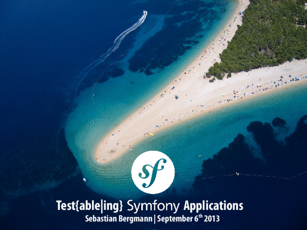Test{able|ing} Symfony2 Applications