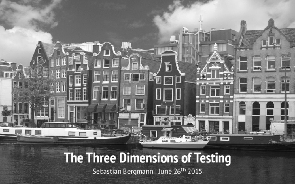 The Three Dimensions of Testing